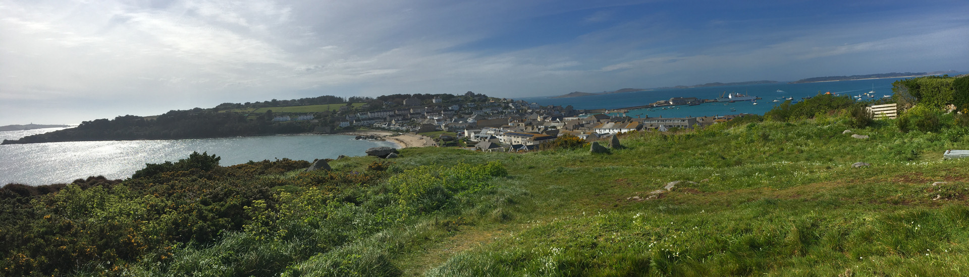 Fabulous view from near 'Leumeah' of the Isles of Scilly